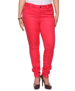 Coral skinny jeans as advertised on Forever 21's website