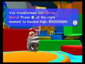 These instructions to control Spring Mario may sound simple, but don't be fooled. Seriously, who thought Spring Mario would be fun to play as?