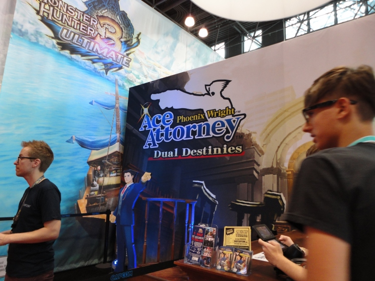 The Phoenix Wright: Dual Destinies booth. The demo is amazing! I really can't wait for this game to come out.