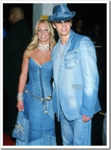 Back when Britney Spears and Justin Timberlake were together, I'd say this outing with denim matching is a fashion don't. It's overkill.