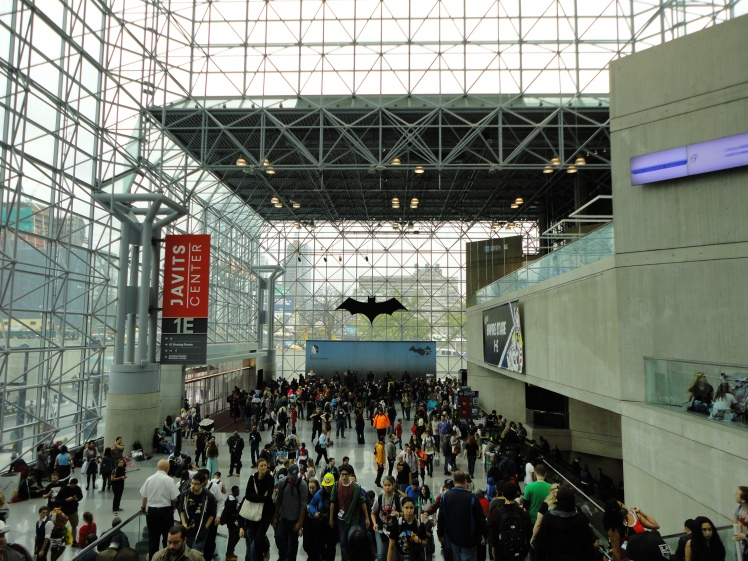 The bat signal is at the Javits Center.