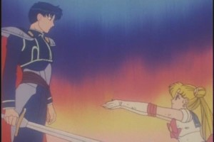 Sailor Moon's final plea to save what may still be left of Mamoru's heart.