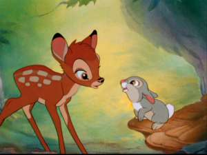 Bambi, it's great that you're making new friends and all, but you literally just lost your mom! How are you not falling to pieces over this right now?