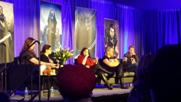 The Women in Gaming panel at BioWare Base.