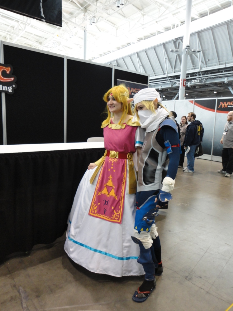 Princess Zelda and Sheik.