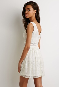 Forever 21's lace dress would probably go well with combat boots if you don't want your look to be too girly.