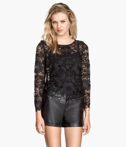 Not a fan of showing off a ton of skin during the summer? Wearing a lace top over a tank top, like this one from H&M, may do the trick!