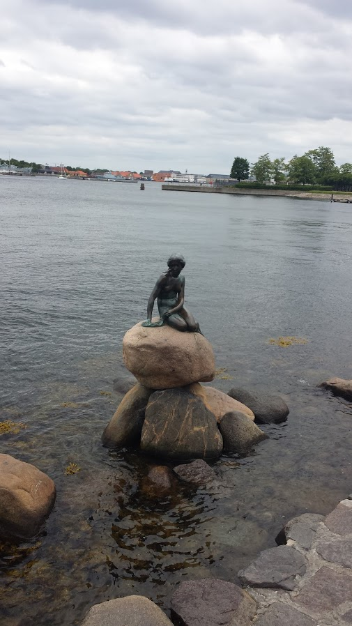 The famous Little Mermaid statue in Copenhagen, Denmark. One of the many beautiful places and sites I saw during my European tour.