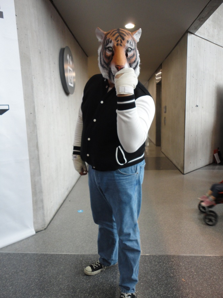 Cosplays can be as simple as what my friend did for his at a New York Comic Con last year when he dressed up as a character from the video game Hotline Miami.