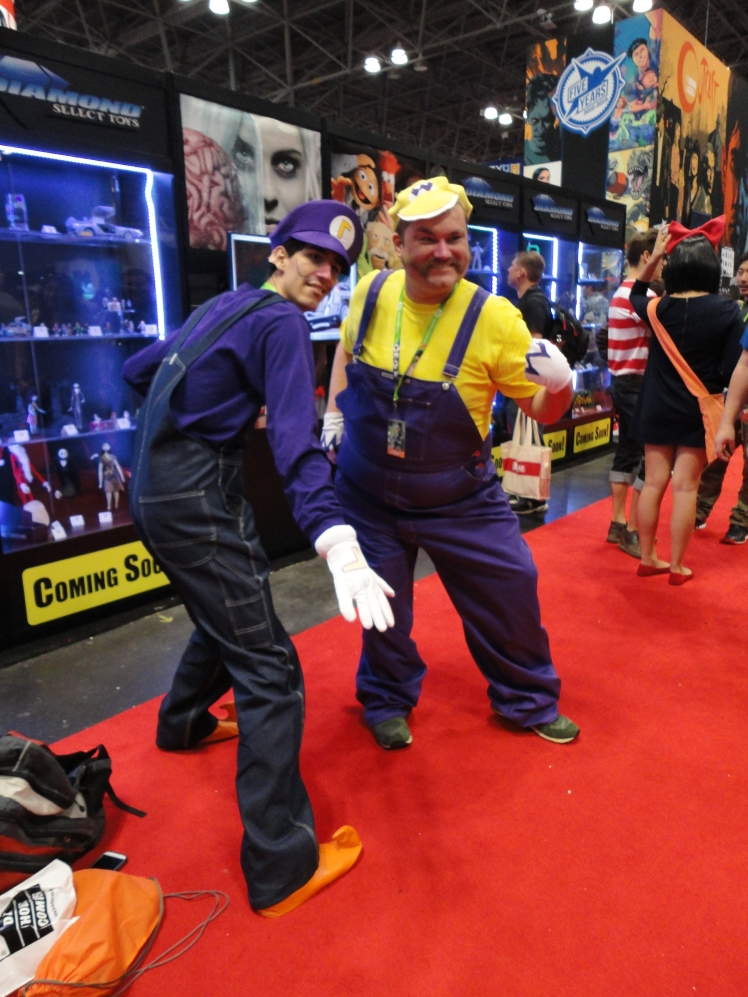 Wario and Waluigi scheming up some mischief at the con.