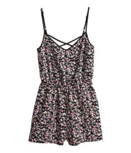 The floral romper from H&M has a pretty and feminine quality that's fun to wear.