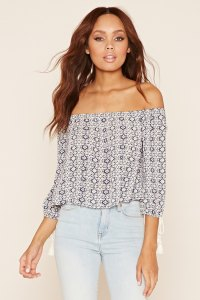 This top from Forever 21 is the perfect example of showing just a bit of skin, but remaining modest overall in your look.