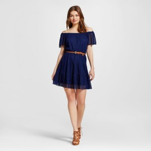 Be wedding or party ready with this cute off the shoulder dress from Target.