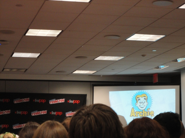 The Archie Comics panel. Not the best photo because I was sitting in the back. The best I could do.