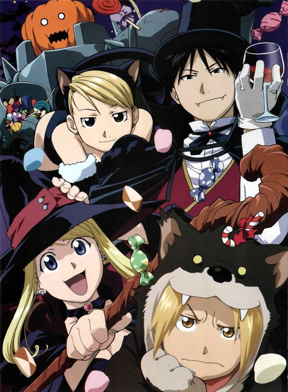 October is also Halloween, so Happy Halloween from the Fullmetal Alchemist gang!